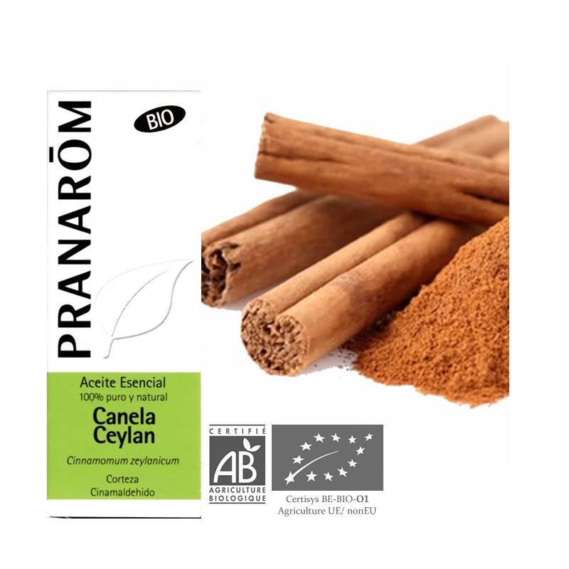 Aceite esencial de Canela de Ceylán BIO corteza Pranarom