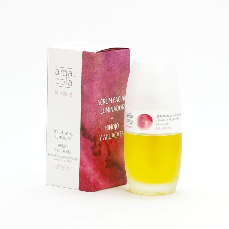 Sérum facial iluminador de Hinojo y Aguacate BIO 30 ml.