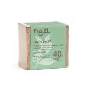 Jabón de Alepo con aceite de laurel al 40% - 200 gr.