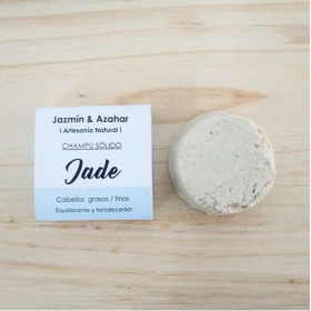 Champú sólido equilibrante y fortalecedor Jade 100 gr.