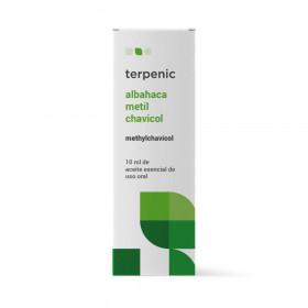 Aceite esencial de albahaca (metil chavicol) 10 ml.