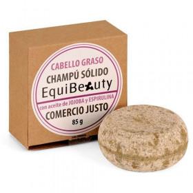 Champú sólido cabello graso con aceite de jojoba y espirulina de Comercio Justo
