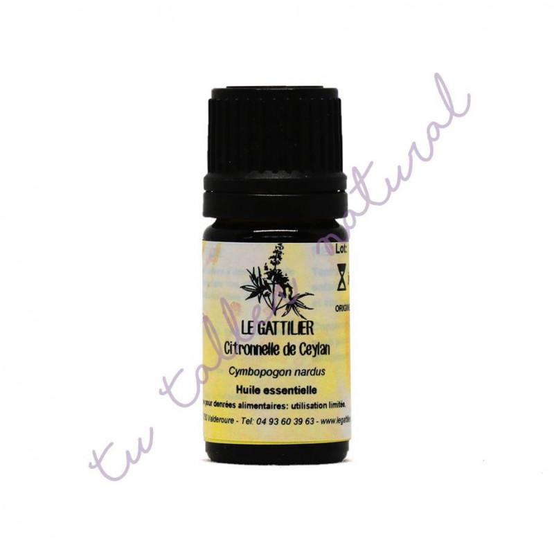 Aceite esencial de citronela de Ceylán BIO 5 ml. - Le Gattilier