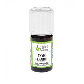 Aceite esencial de tomillo QT geraniol BIO 5 ml.