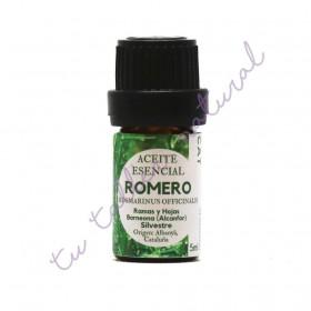 Aceite Esencial de Romero Alcanfor silvestre 5 ml.