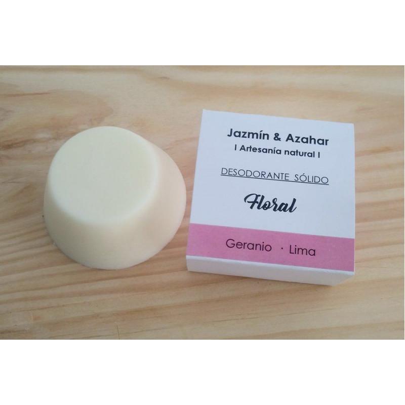 Desodorante sólido Bio Floral - Jazmín y Azahar