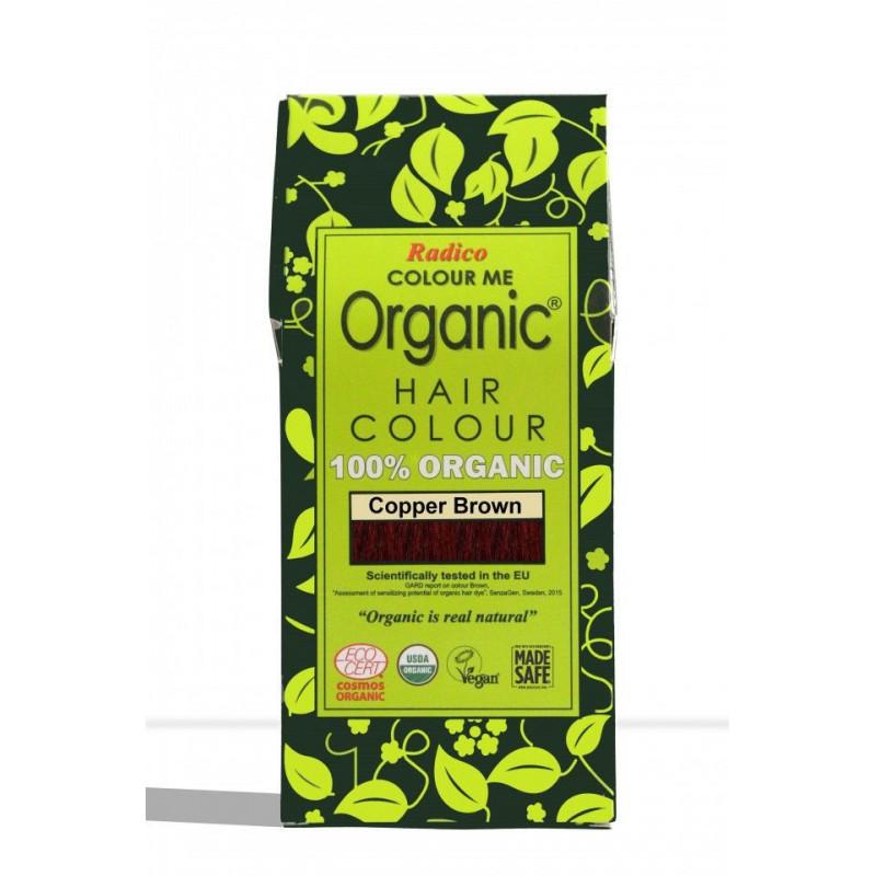 Tinte vegetal para cabello castaño cobrizo BIO 100 gr.