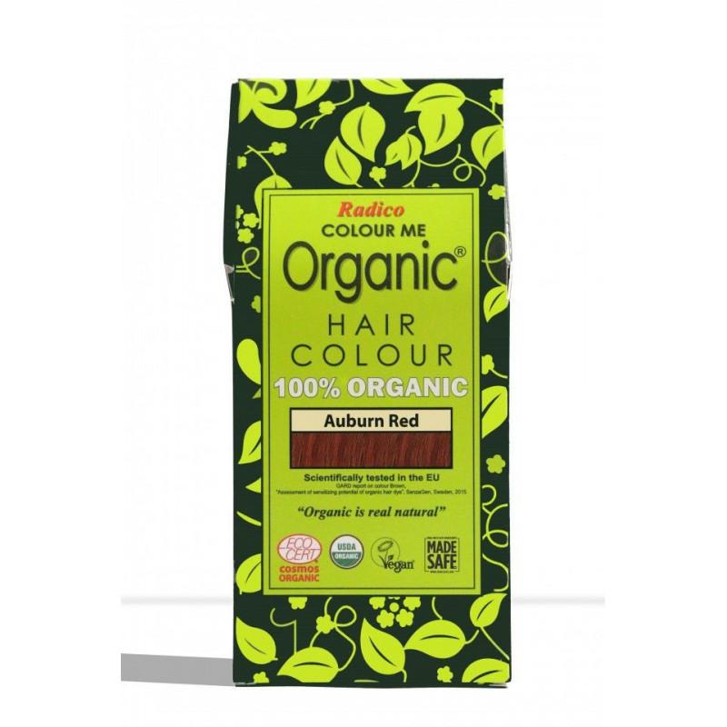 Tinte vegetal para cabello castaño rojizo BIO 100 gr.