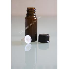 Frasco opaco de vidrio con obturador 5 y 10 ml.